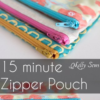 15 Minute Zipper Pouch Tutorial