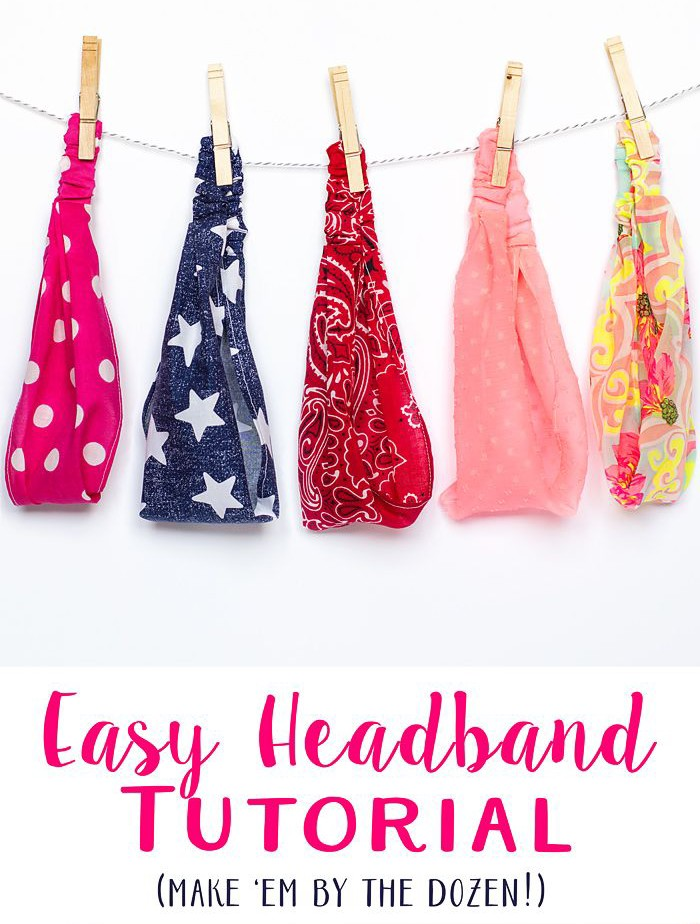 The Easy Elastic Headbands tutorial by Scattered Thoughts of a Crafty Mom is a quick, fast sew project. Make one for every outfit! -Sewtorial