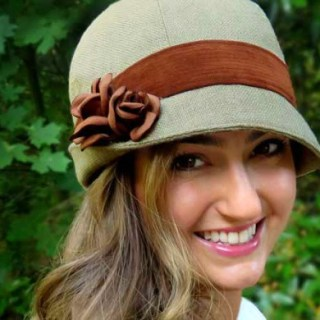 "The vintage inspired hat by Elsewhen is a classic design that's easy to transform with a change of fabric. (Hat Sizes 19""-25"") -Sewtorial"