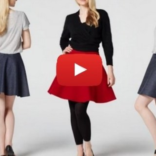 Teach Me Fashion shows how to make a skater skirt in this video tutorial.