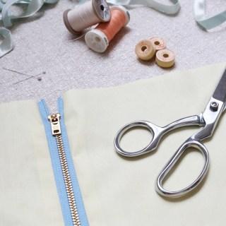 Install an Exposed Zipper