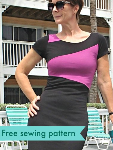 If you're looking for a curve hugging dress for any occasion, then look no further than this figure flattering knit dress pattern by So Sew Easy. -Sewtorial