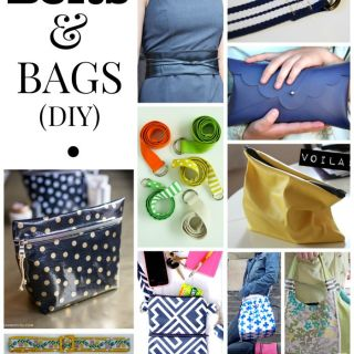 We've combed through the archives of Sewtorial to bring you some of our favorite tutorials in this DIY belts and bags roundup.