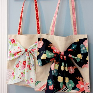 Fabric Bow tote