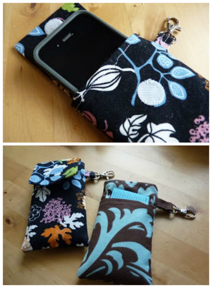 Here's a useful scrap buster by Sewplicity. This iPhone cover tutorial is great for using up fabric scraps for your growing collection. -Sewtorial