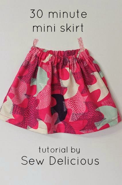 Who doesn't love a quick project that looks great? Sew Delicious shows how simple it is to sew up a skirt in 30 minutes in this basic skirt tutorial. -Sewtorial