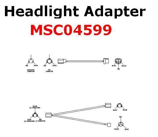 Boss Headlight Adapter MSC04599 2B Lights