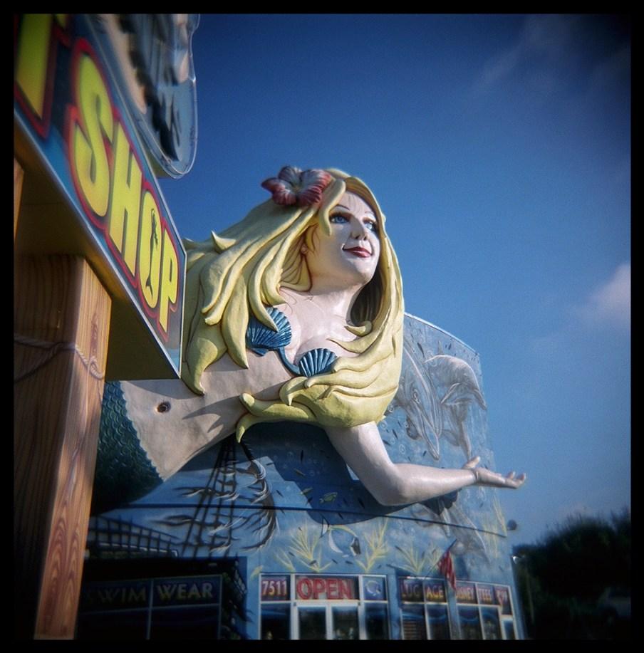 Mermaid greeting.