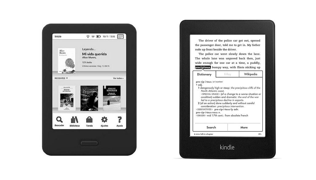 Comparativa eReaders: BQ Cervantes vs Kindle Paperwhite