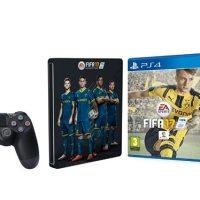 ¡Oferta! PlayStation 4 Slim (PS4) de 1TB + FIFA 17 + Mando adicional DualShock 4 Steel Black por menos de 360 euros