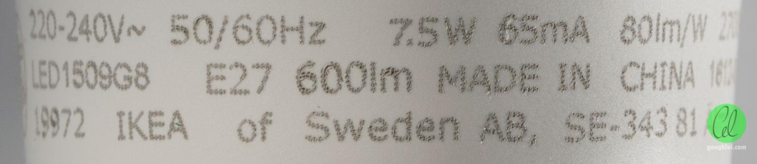 Review, Teardown IKEA RYET 5w  75w LED E27 Globes Gough\u0027s Tech Zone