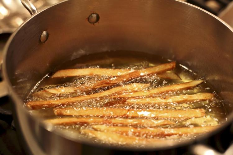 French Fries Cooked in Duck Fat