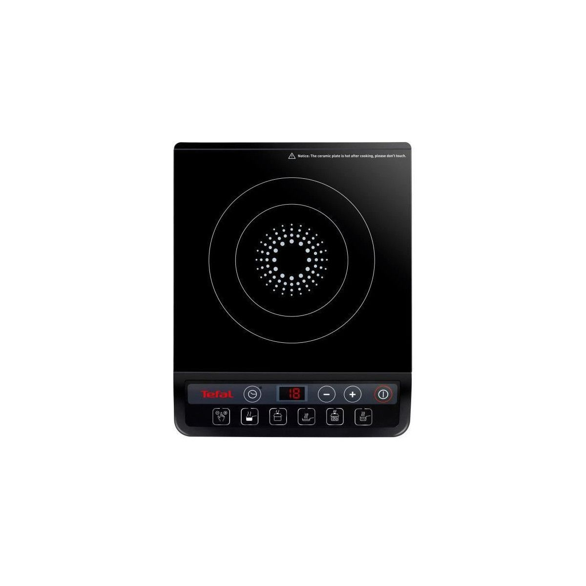Plaque Chauffante Induction Tefal Ih201812 Plaque De Cuisson Posable A Induction Noir