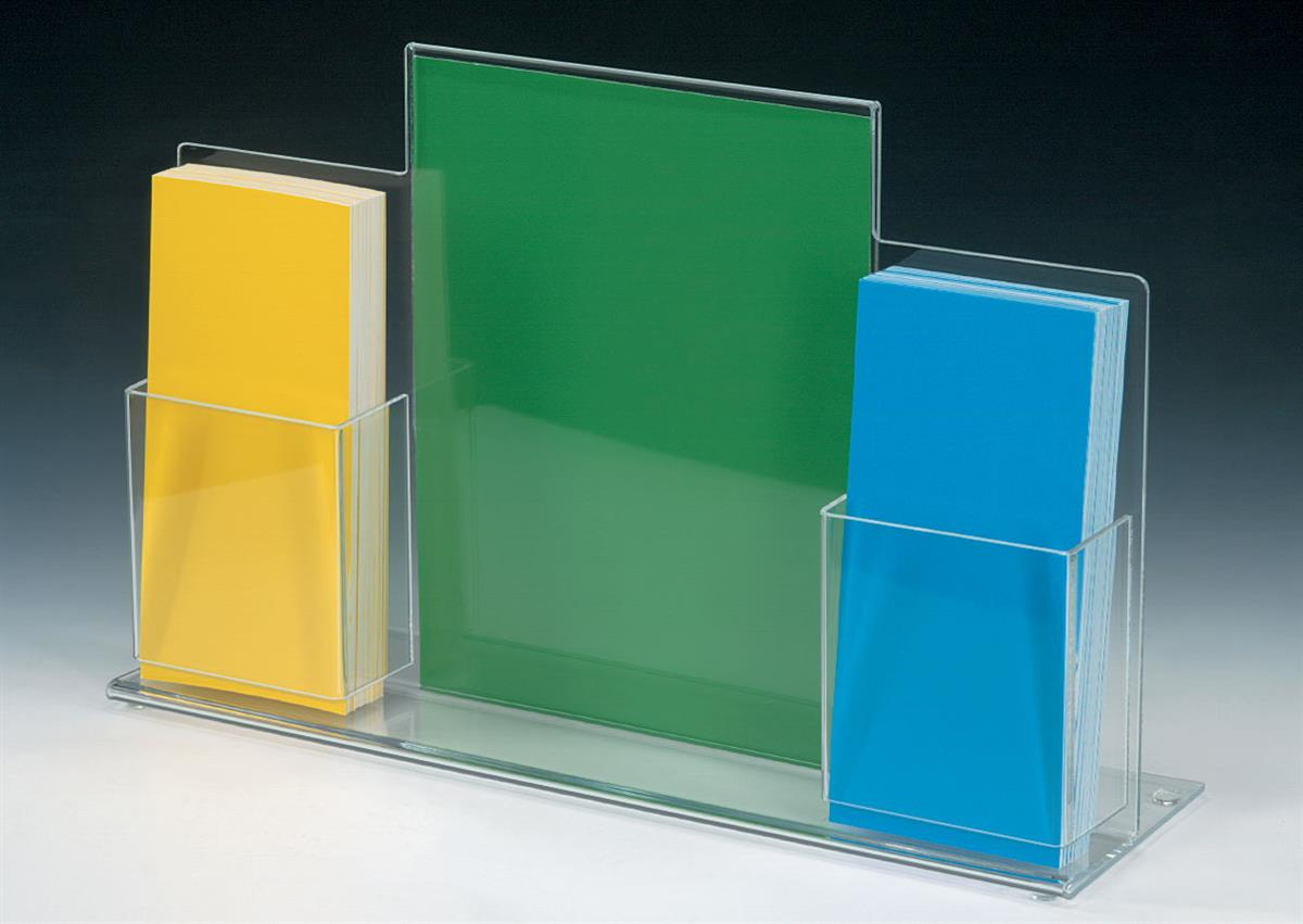 Acrylic Brochure Display 85 X 11 Countertop Stand Of