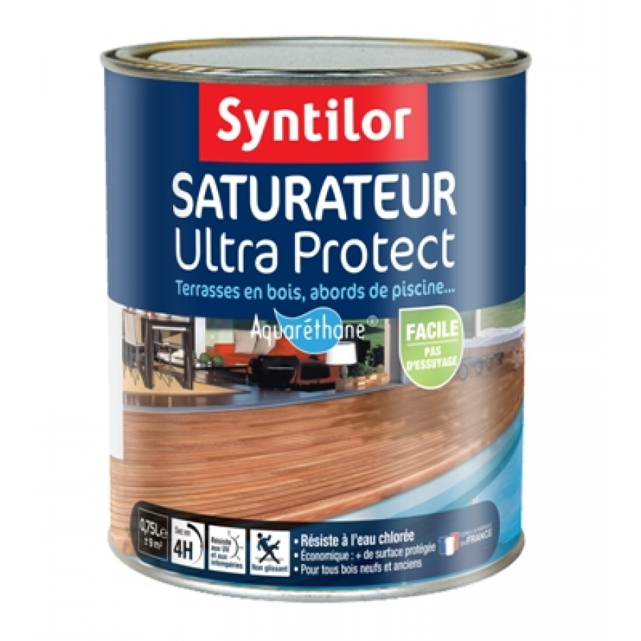 Peinture Sol Exterieur Syntilor Saturateur Ultra Protect Aquaréthane Syntilor 75l Syntilor Sat