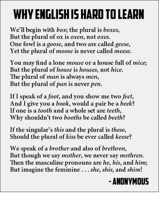 Resume Pronunciation In British English Pronouncing English Vowels English Language Guide Why English Is Hard To Learn A Lesson On Pluralization