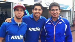 Felix da Costa (l), Duran (c) and Aguri Suzuki (r) in 2015.