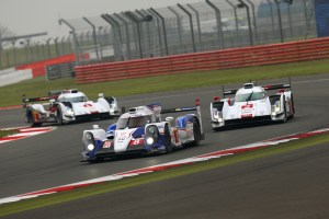 The No. 8 leads the Audis at Silverstone. (Toyota Motorsport)