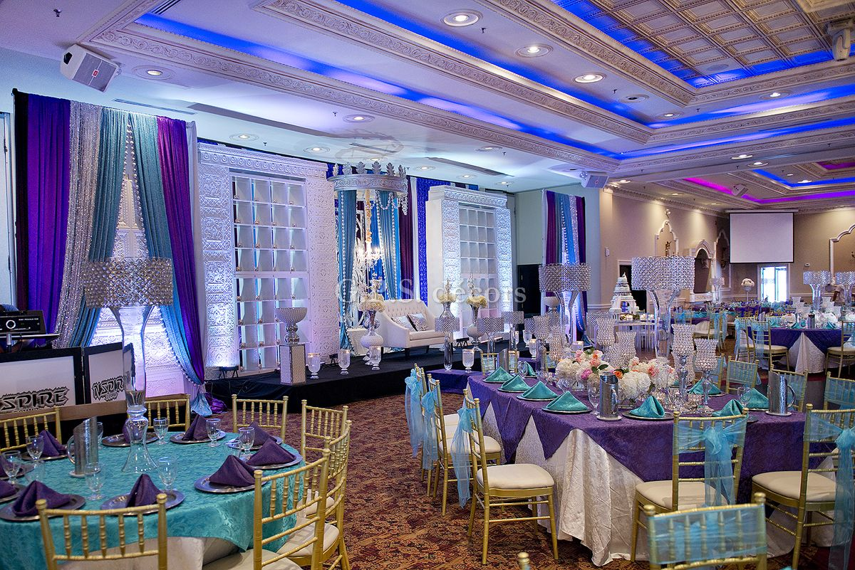Decor Center Purple And Turquoise Victorian Inspired Wedding Reception
