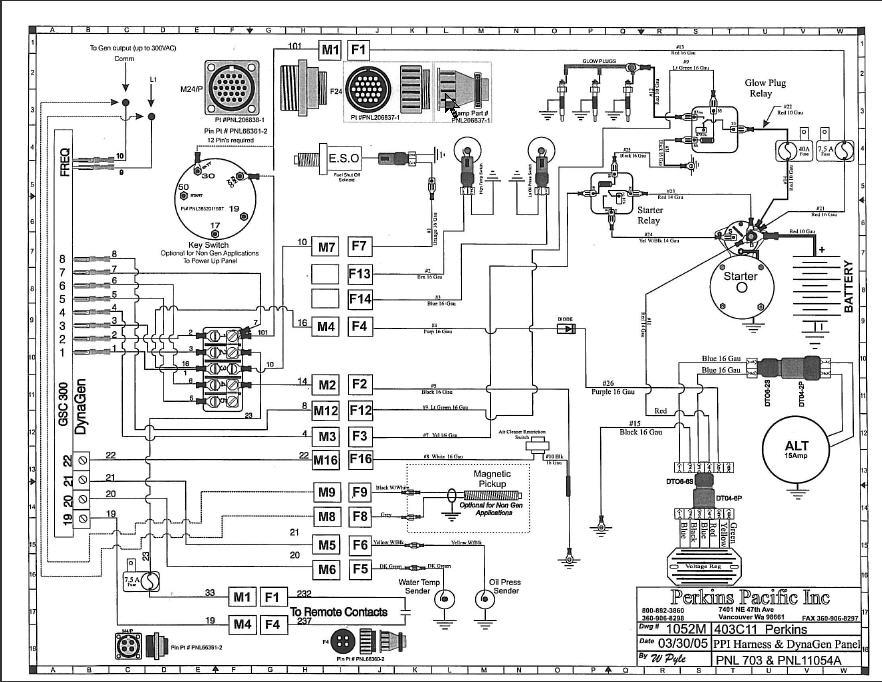 perkins marine diesel wiring diagram
