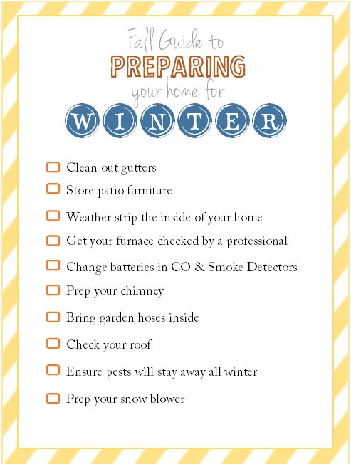 Homeowners - Here\u0027s your Fall To Do List to Prep for Winter