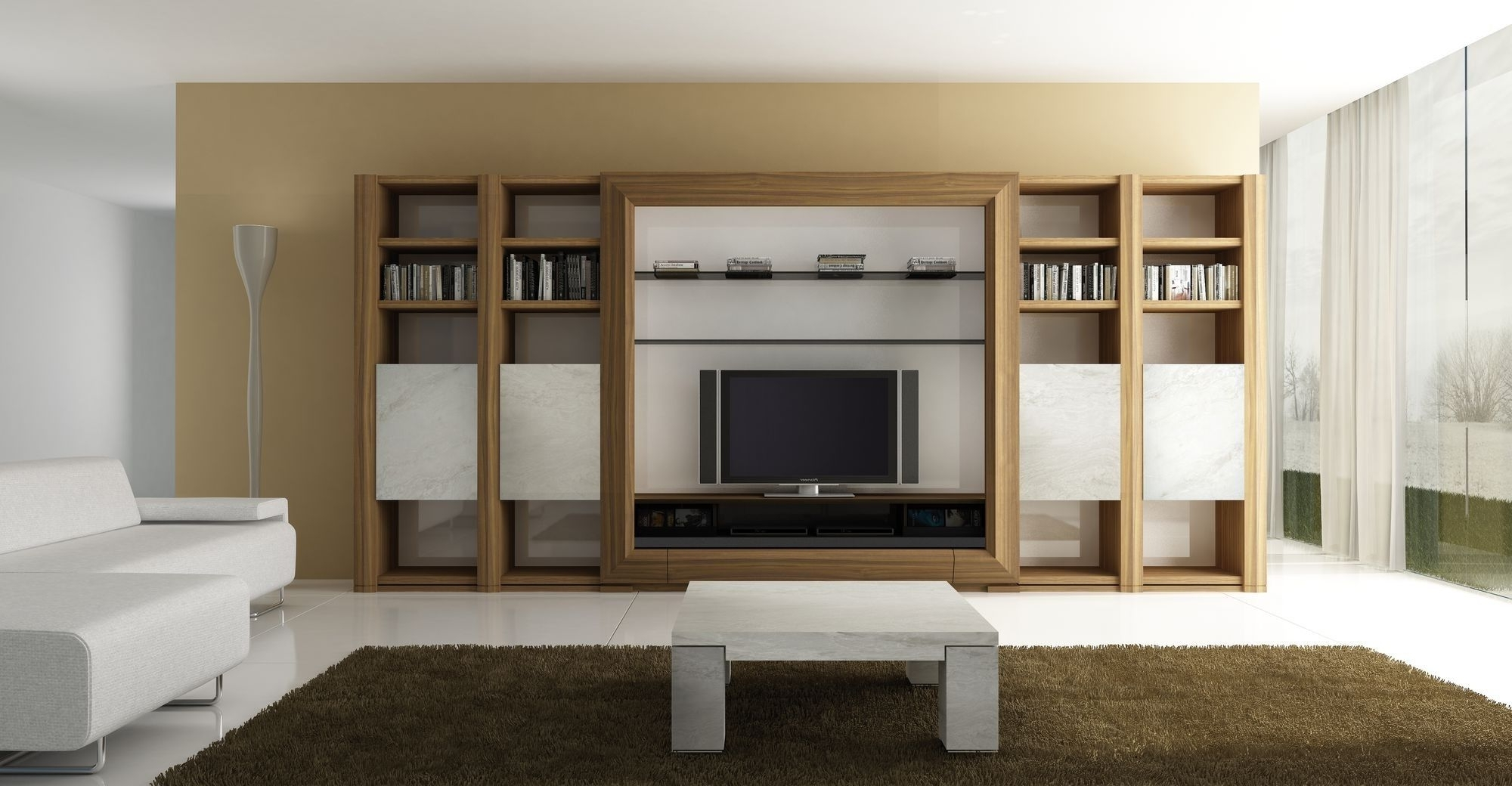 Living Room Storage Units 2018 Latest Wall Units For Living Room