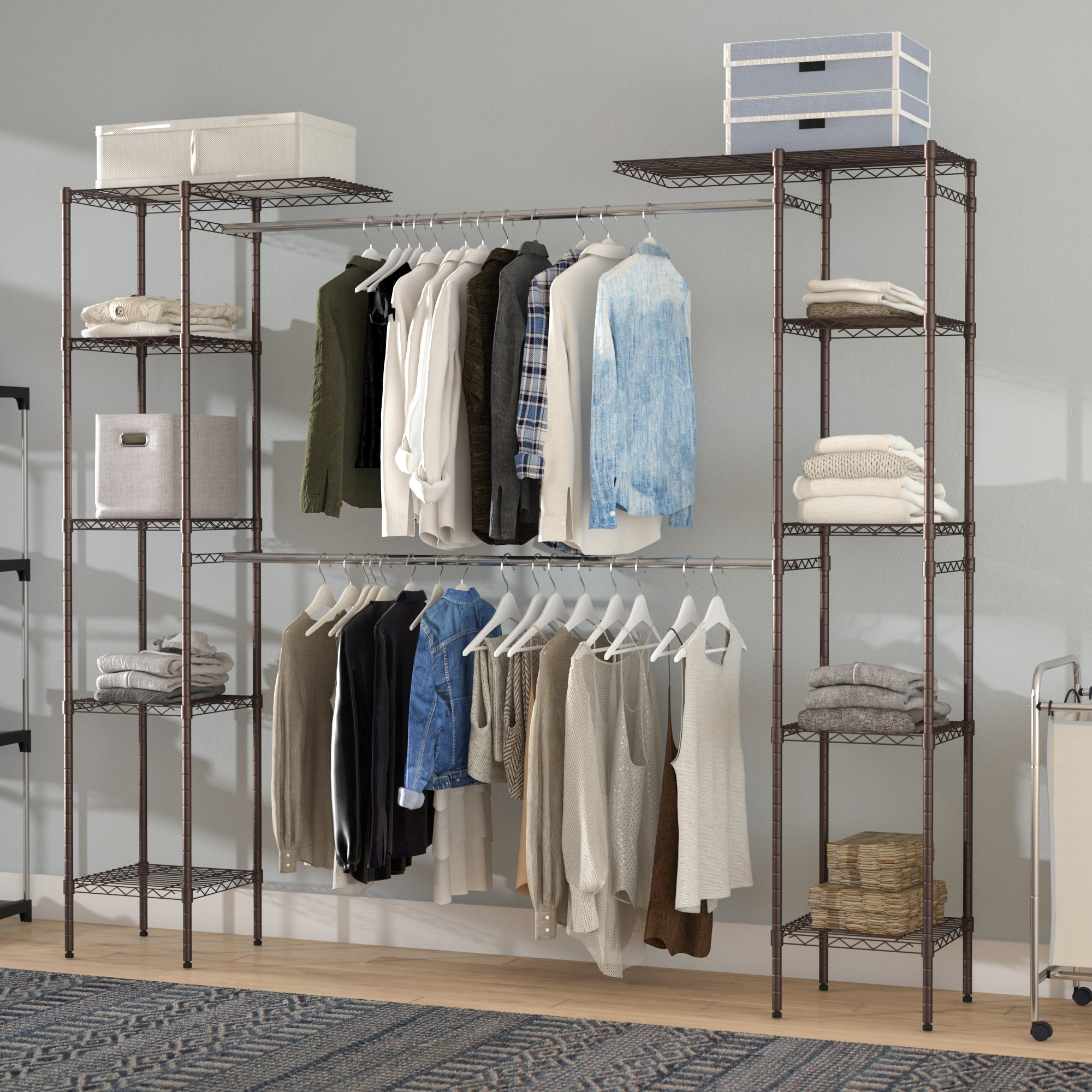 Double Hanging Wardrobe 15 Best Collection Of Wardrobe Double Hanging Rail