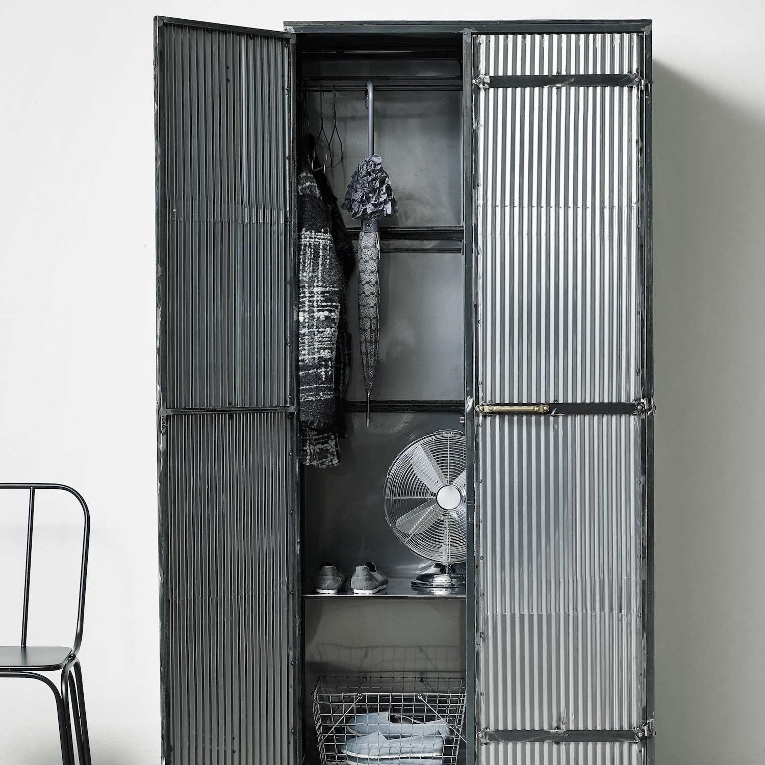 Industrial Wardrobes 15 Ideas Of Metal Wardrobes