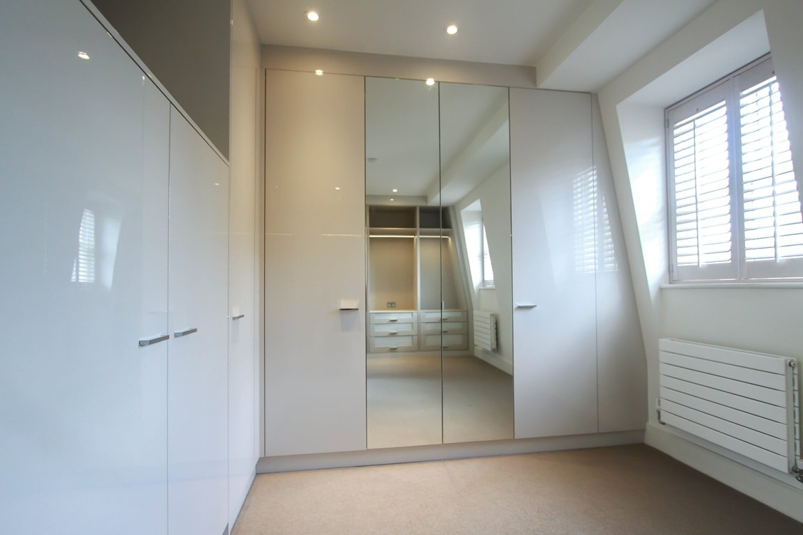 White Bedroom Wardrobes 15 Best Ideas Of White Gloss Mirrored Wardrobes