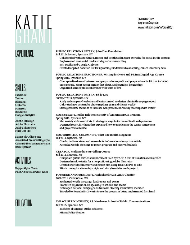 Resume GRA 217 Section 5 Group 1 Page 9
