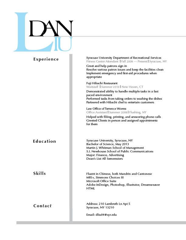 draft of a resumes
