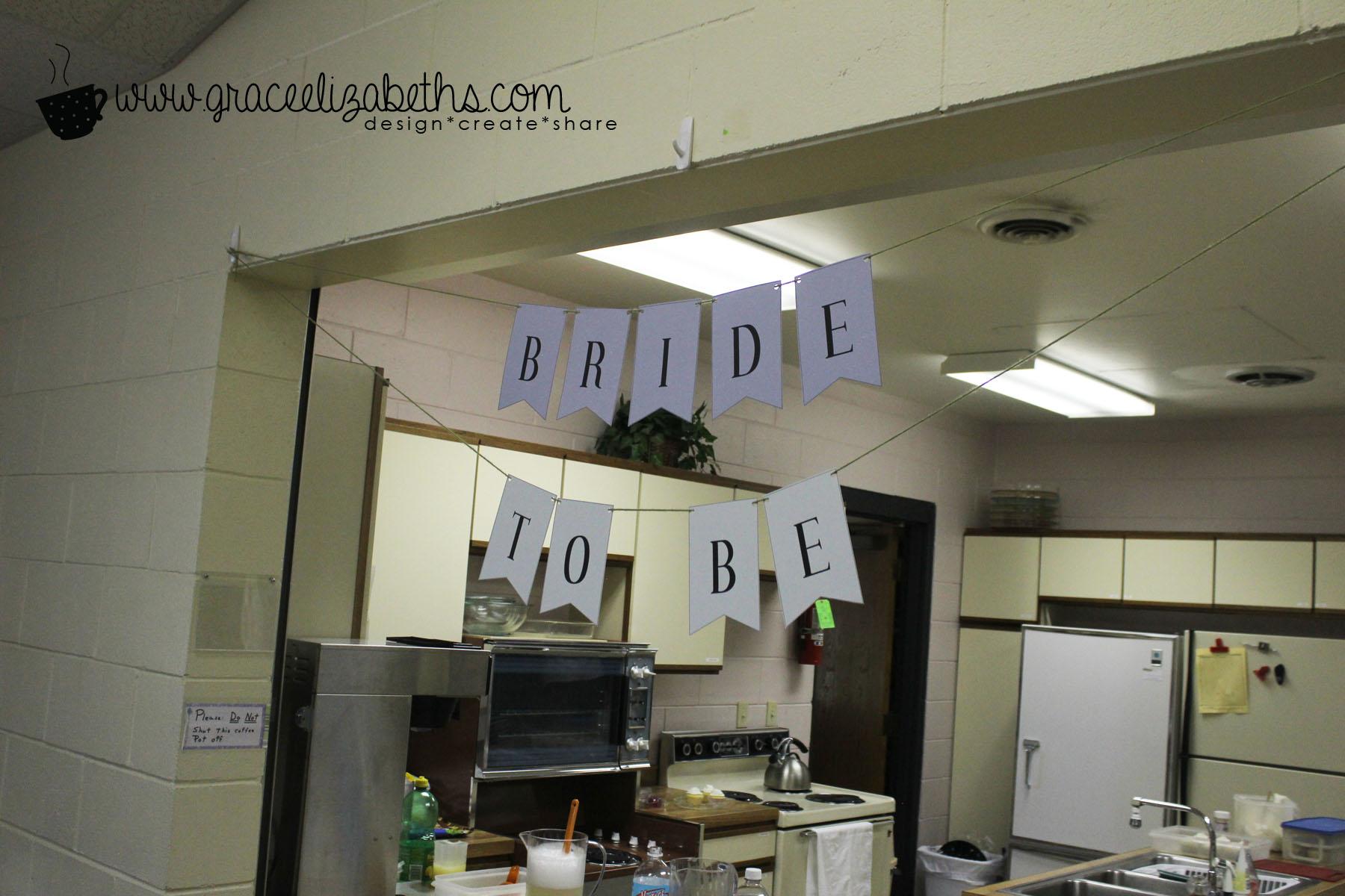 bride to be banner geinc