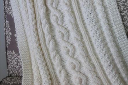 Cabled Baby Blanket by Grace Elizabeth's www.graceelizabeths.com