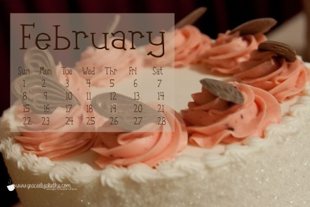 Cake! Free February Computer Wallpaper Download