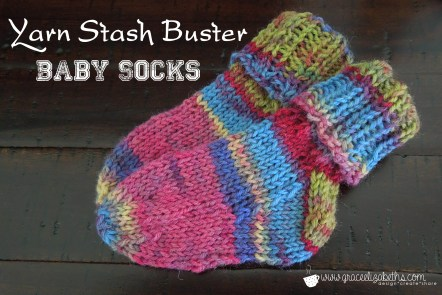 Yarn Stash Buster: Baby Socks by Grace Elizabeth's
