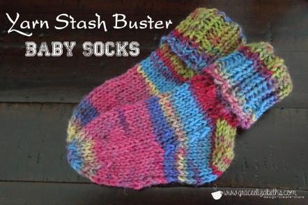 Yarn Stash Buster: Baby Socks by Grace Elizabeth's