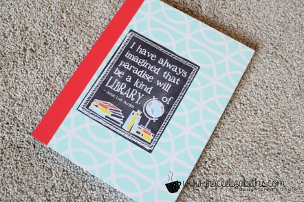 easy diy reading journal #GEinc