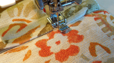 Pivot and sew to seam