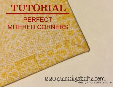 How to create perfect mitered corners every time - Grace Elizabeth's #sewing