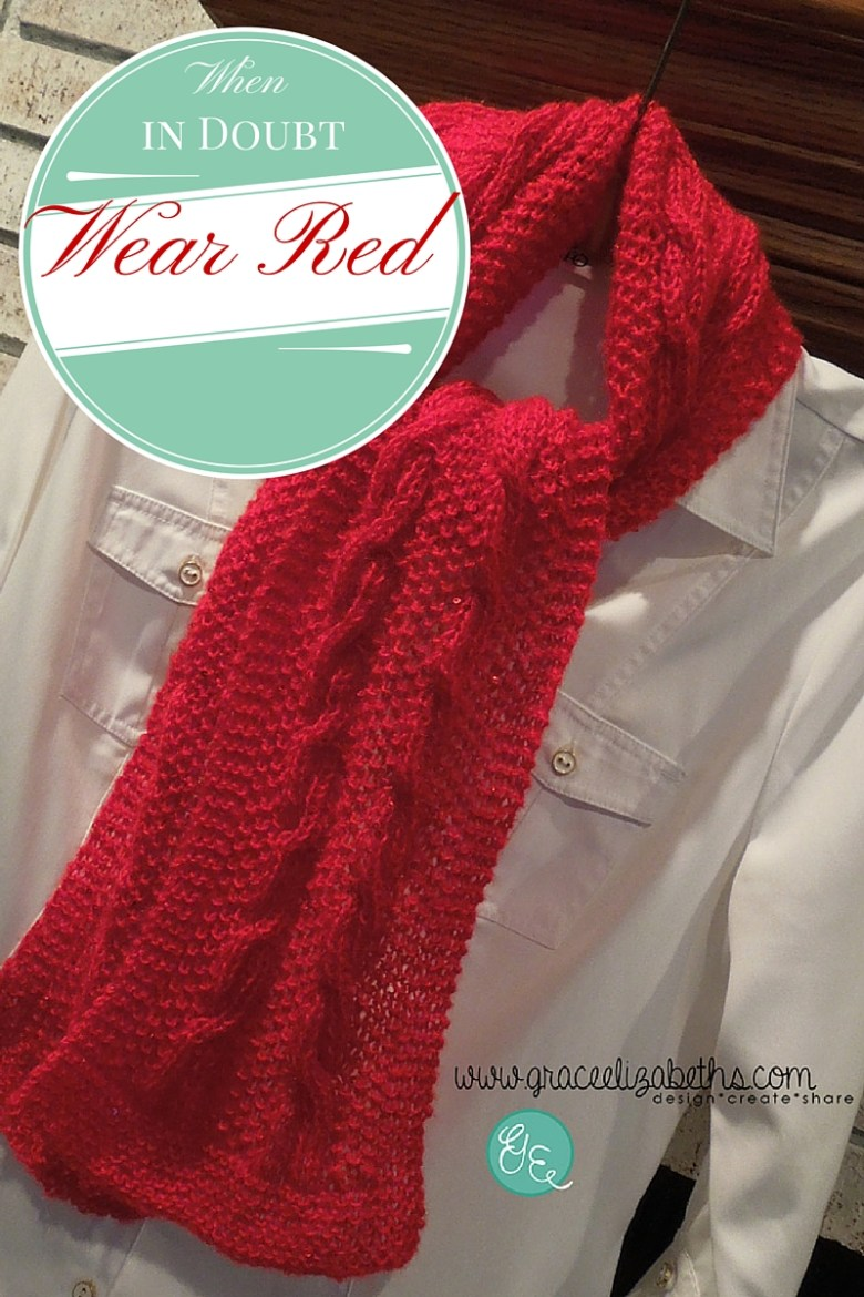 Reversible Cable Scarf Pattern Available by Grace Elizabeth's