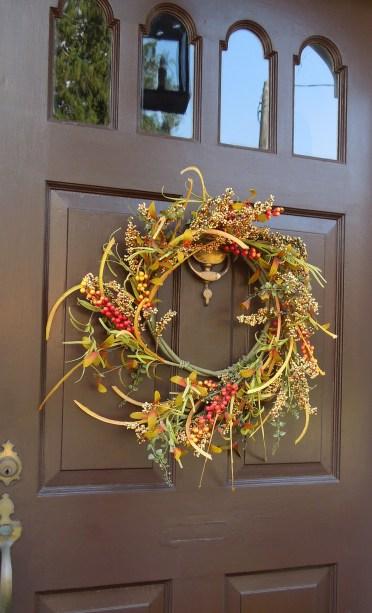 Fall Door Wreath www.GraceElizabeths.com