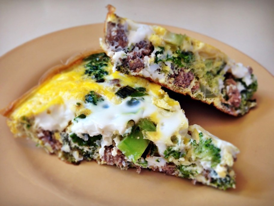 Paleo Ground Beef, Kale and Broccoli Frittata -- GracefullyPrimal.com