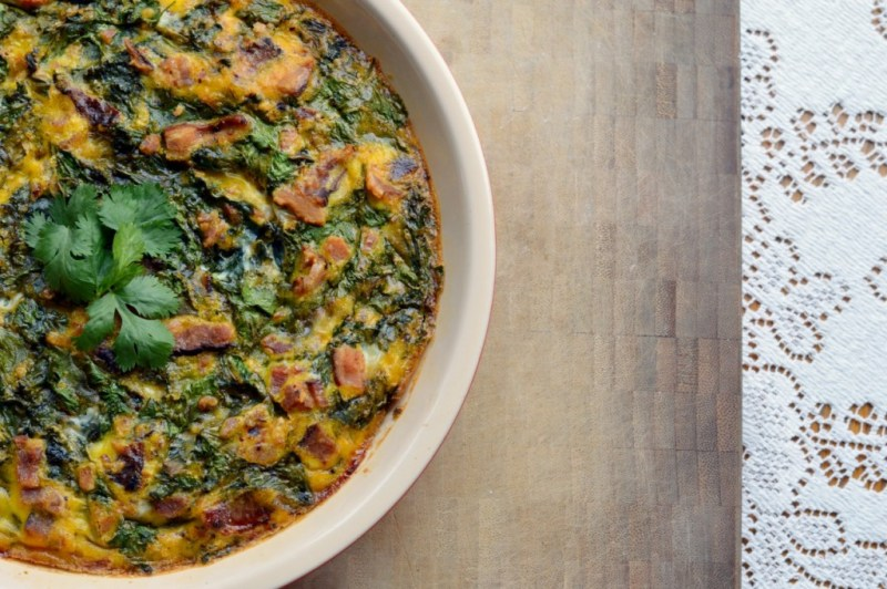 Paleo Green Eggs and Ham Breakfast Bake -- GracefullyPrimal.com