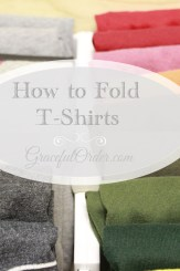 How to fold t-shirts
