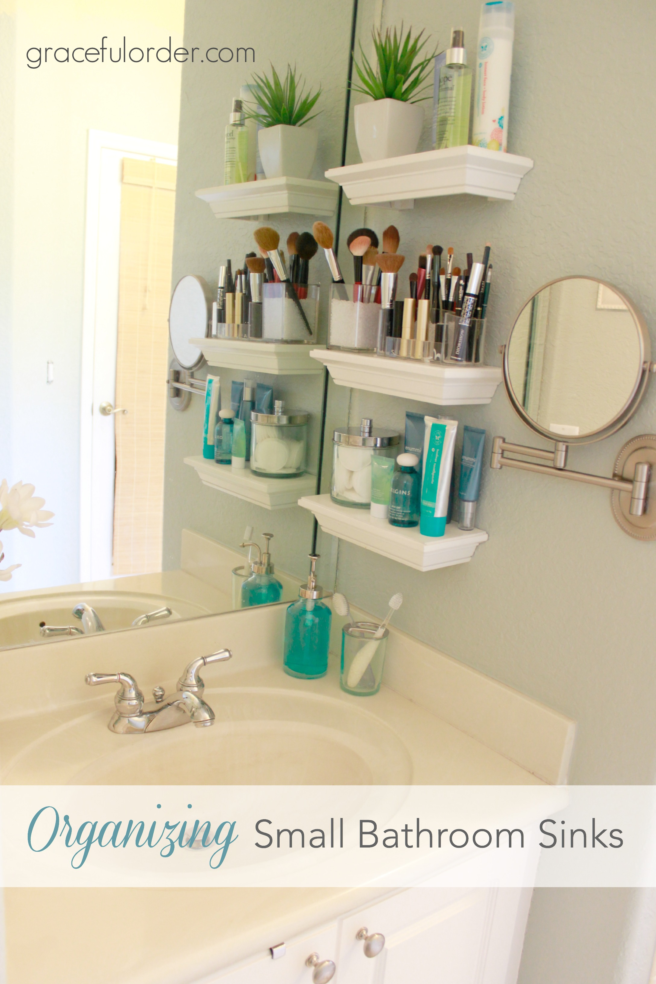 organizing small bathroom sinks graceful order