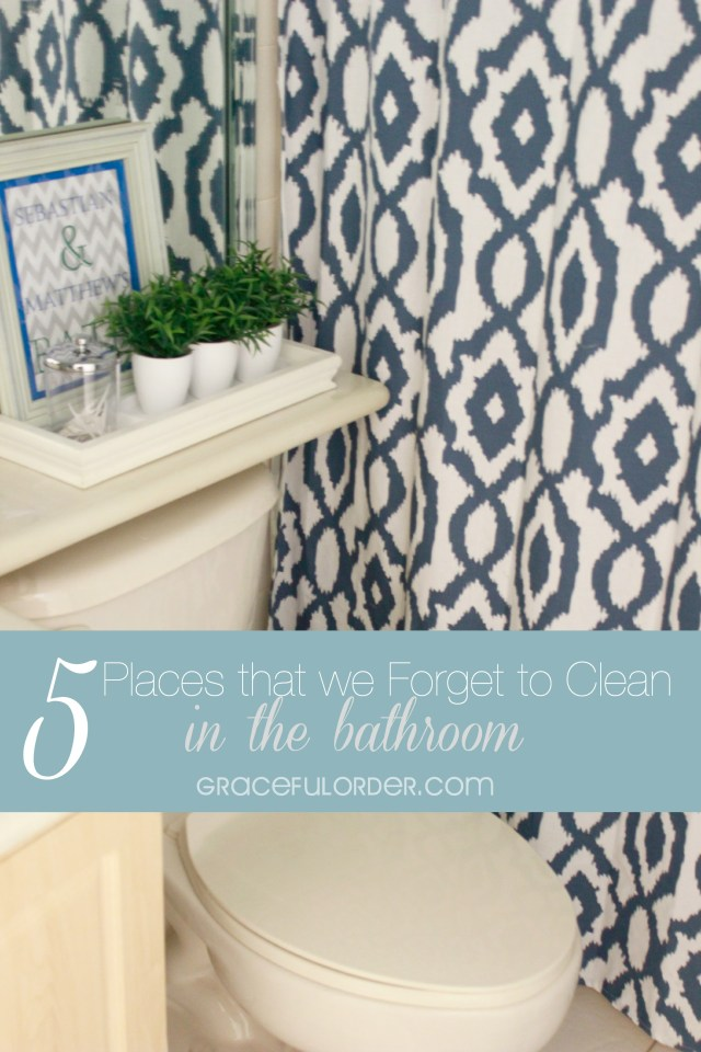 5 Places We Forget to Clean in the Bathroom