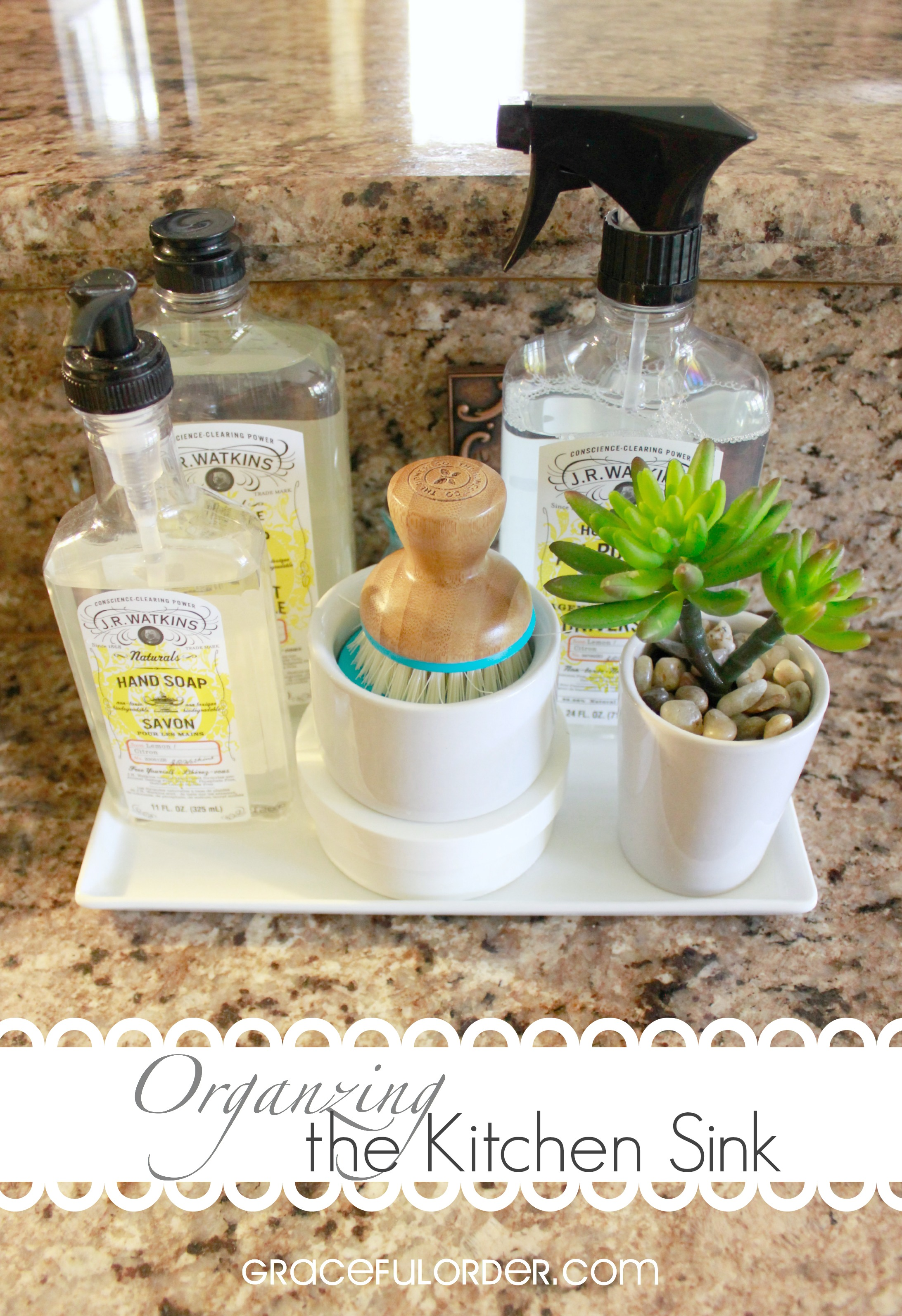 Organizing the Kitchen Sink Area - Graceful Order