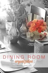 Organizing the Dining Room