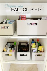 Organized Home Week 8 - The Hall Closet