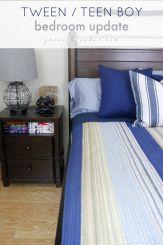 TWEEN teen boy bedroom update